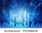 3d rendering stock market... | Shutterstock . vector #592588634