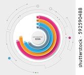 business infographic circles 3d ... | Shutterstock .eps vector #592590488