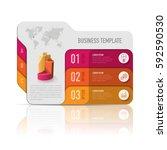 folder infographic design... | Shutterstock .eps vector #592590530