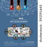 infograph brochure template... | Shutterstock .eps vector #592591643