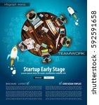 infograph brochure template... | Shutterstock .eps vector #592591658