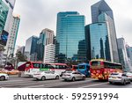 seoul  korea   january 01  2017 ... | Shutterstock . vector #592591994