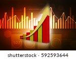 3d rendering stock market... | Shutterstock . vector #592593644