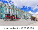 Horse Drawn Carriages On The...