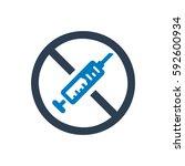 no drugs icon   Shutterstock .eps vector #592600934