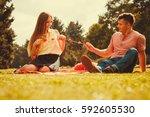 love romance relationship... | Shutterstock . vector #592605530