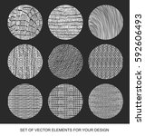 collection of textures  brushes ... | Shutterstock .eps vector #592606493