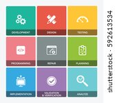 software engineering icon set | Shutterstock .eps vector #592613534