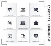 online education icon set | Shutterstock .eps vector #592615526