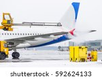 Airport In Winter Deicing Of...