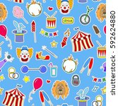 seamless pattern on the theme... | Shutterstock .eps vector #592624880