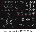 alchemical signs. slavic... | Shutterstock .eps vector #592626914