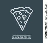 pizza slice icon vector   Shutterstock .eps vector #592638560