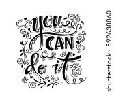 you can do it inscription.... | Shutterstock .eps vector #592638860