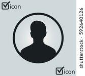 user sign icon. person symbol.... | Shutterstock .eps vector #592640126