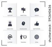 mentoring icon set | Shutterstock .eps vector #592640636