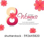 happy women's day poster or... | Shutterstock .eps vector #592645820