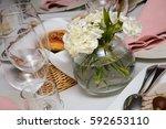 flowers on table | Shutterstock . vector #592653110