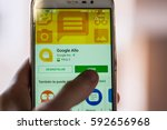 google allo  the new product of ... | Shutterstock . vector #592656968