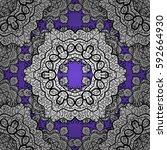 classic vector white seamless... | Shutterstock .eps vector #592664930