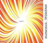 sun's rays or explosion vector... | Shutterstock .eps vector #592665464