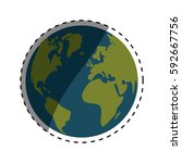 isolated world earth icon... | Shutterstock .eps vector #592667756