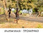 central region  ghana   jan 17  ... | Shutterstock . vector #592669463