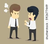 a businessman angry colleagues. ... | Shutterstock .eps vector #592677449