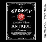 whiskey border antique frame... | Shutterstock .eps vector #592678136