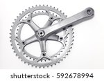 bike crank set and chain ring... | Shutterstock . vector #592678994