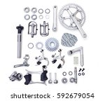 bicycle spare parts for the... | Shutterstock . vector #592679054