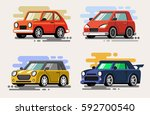 vector illustration of flat... | Shutterstock .eps vector #592700540