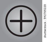plus icon  positive symbol... | Shutterstock .eps vector #592705220