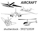 aircraft. helicopter. stealth.... | Shutterstock .eps vector #592713539