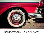 the front end of a classic... | Shutterstock . vector #592717694