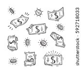 Vector Set Of Money. Hand Drawn ...