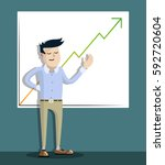 successful businessman  office... | Shutterstock .eps vector #592720604