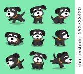 cartoon character black norfolk ... | Shutterstock .eps vector #592733420