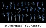 movement of smoke collection.... | Shutterstock . vector #592735550