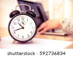 business deadline concept with... | Shutterstock . vector #592736834