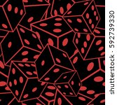 seamless crazy dice pattern. | Shutterstock .eps vector #592739330