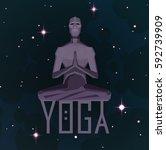 yoga template for your design... | Shutterstock .eps vector #592739909