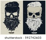 vintage biker graphics and... | Shutterstock .eps vector #592742603