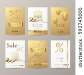 set of stylish banners for sale ... | Shutterstock .eps vector #592745000