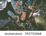 party people celebrating in the ... | Shutterstock . vector #592752068