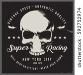 vintage biker graphics and... | Shutterstock .eps vector #592752974
