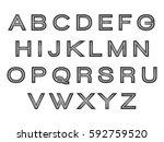 alphabet silver | Shutterstock .eps vector #592759520