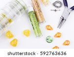 jewelry making and beading... | Shutterstock . vector #592763636
