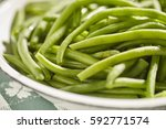 Poached  French Green Beans....