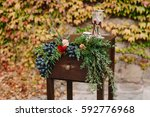 wedding decorated table for the ...   Shutterstock . vector #592776968